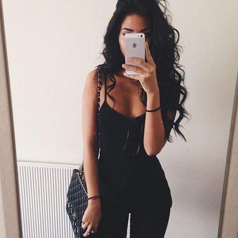 Fashion Hair And Brunette Image Long Hair Styles Long Black Hair Hair Styles