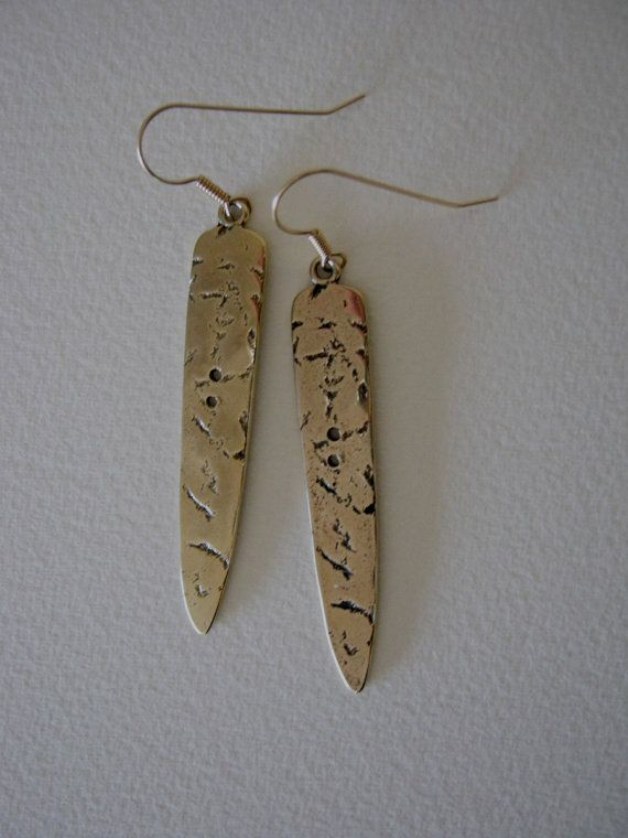 cast bronze spear with gold filled wires earrings by corlett45, $80.00