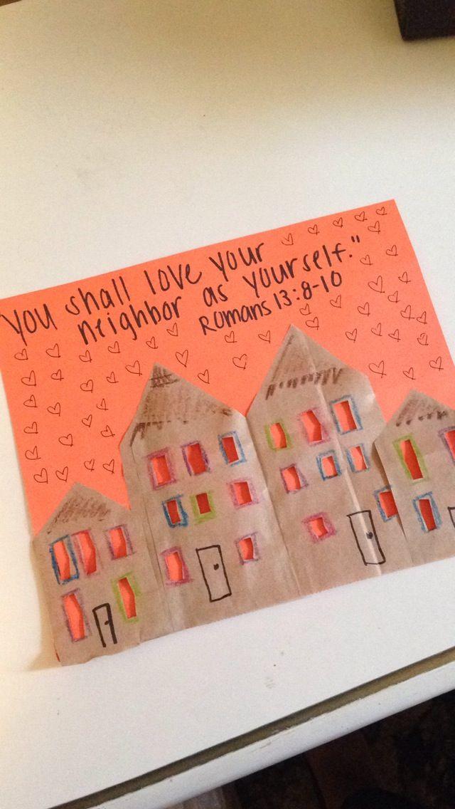 Love Your Neighbor Craft Sunday School Crafts Sunday School