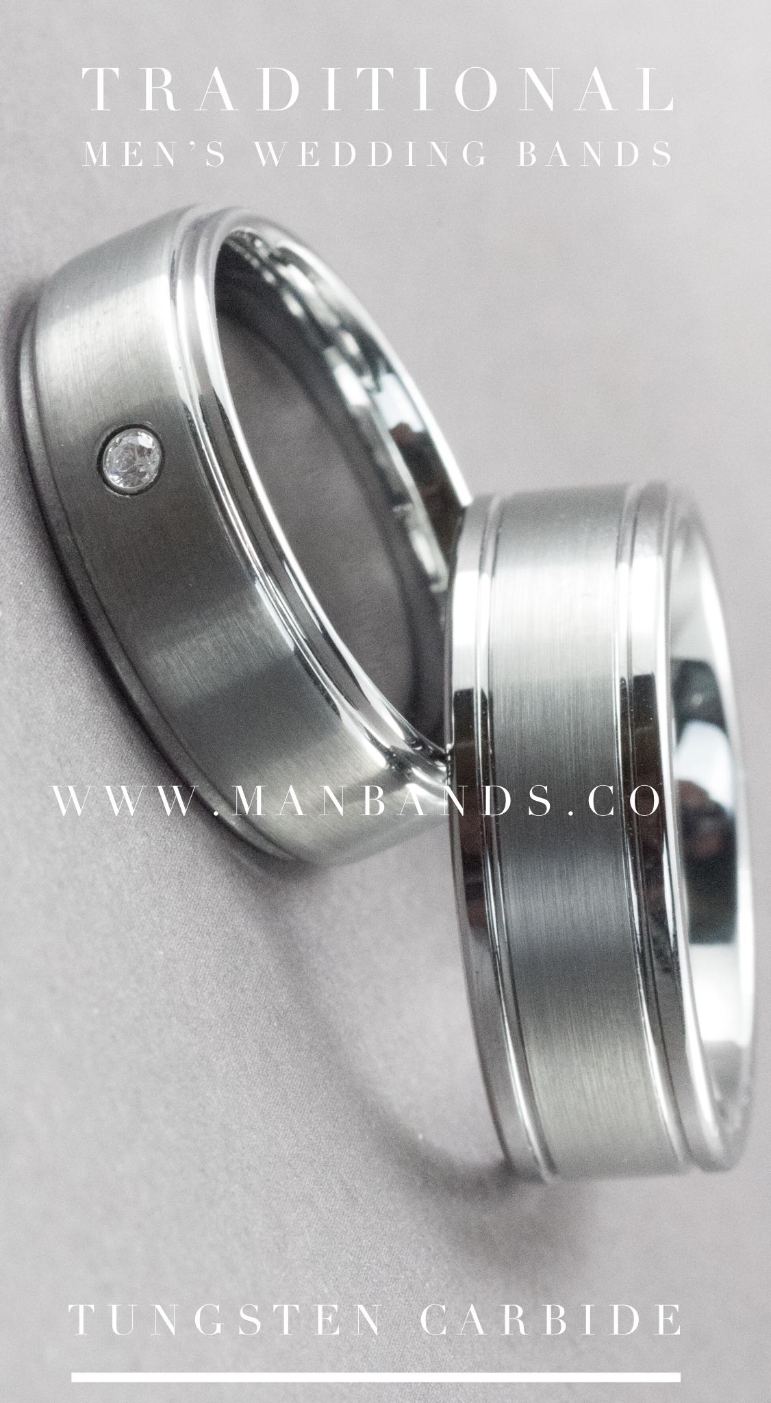 Men's Wedding Bands Tungsten Carbide Mens Wedding Bands