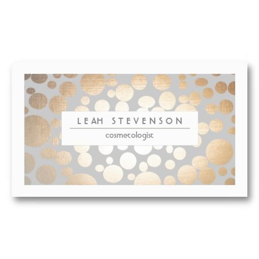 Faux gold leaf cosmetologist business card businesscards httpwww explore beauty business cards and more reheart Gallery