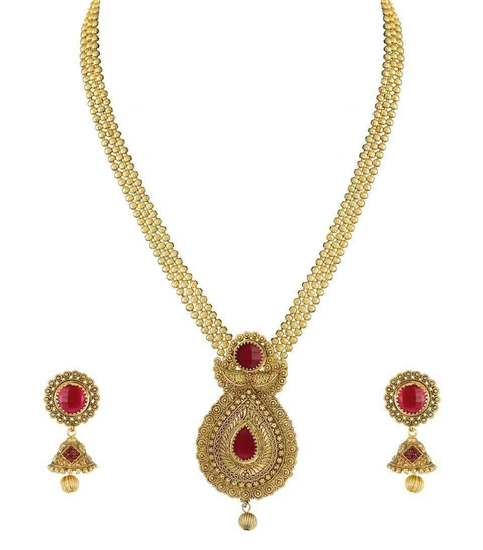 Zaveri Pearls Long Haram Necklace Set Zaveri Pearls Jewellery