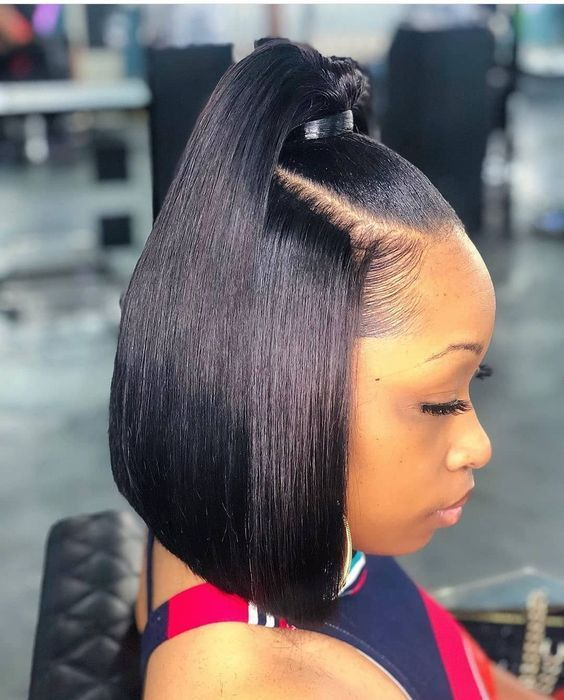 Short Straight Bob Hair Lace Wig Hairstyles For Fashion Black African American Women Thick Hair Styles Wig Hairstyles Hair Styles