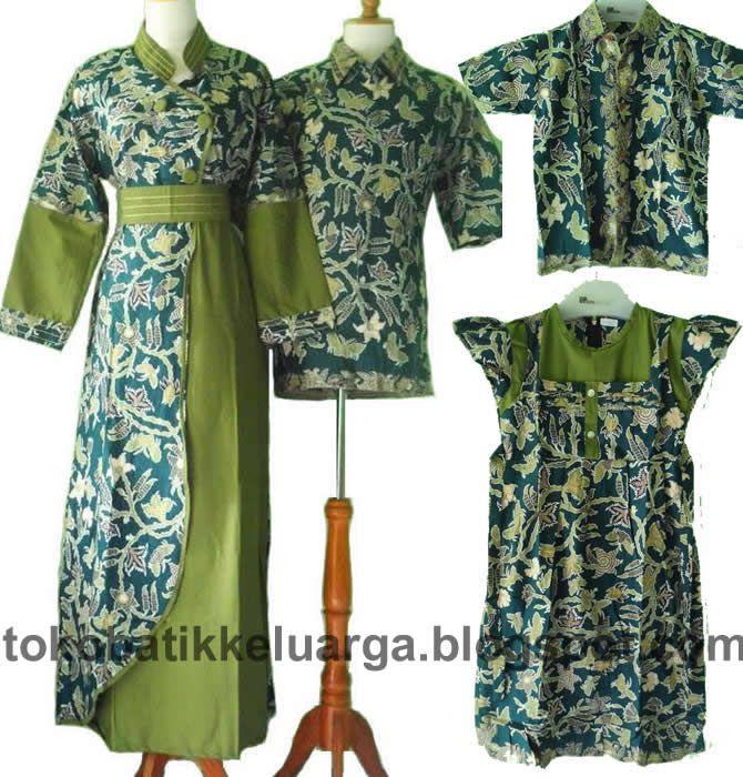 gamis batik sarimbit keluarga muslim modern SK23 murah di ...