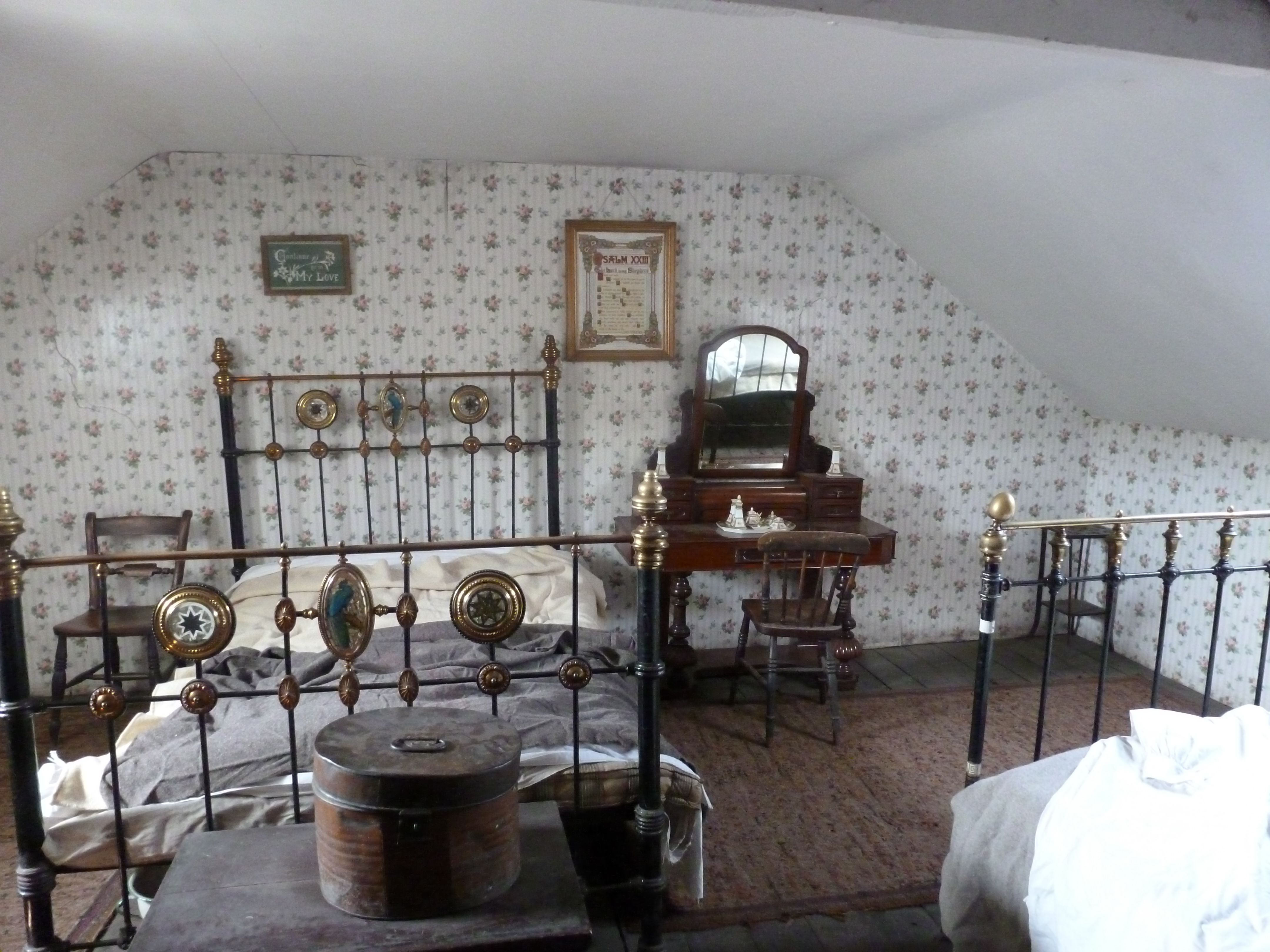 1910s Miner S Cottage Bedroom At Beamish Museum