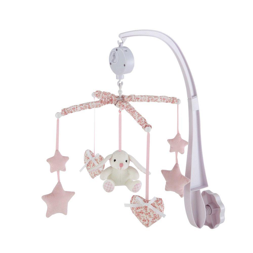 Móvil Musical Para Bebé Rosa Victorine Felting Baby Crib
