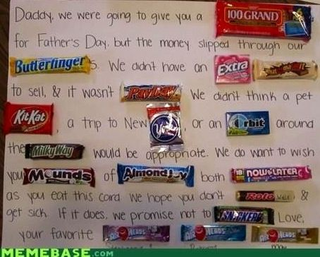Father s day candy bars mad libs letter via memebase