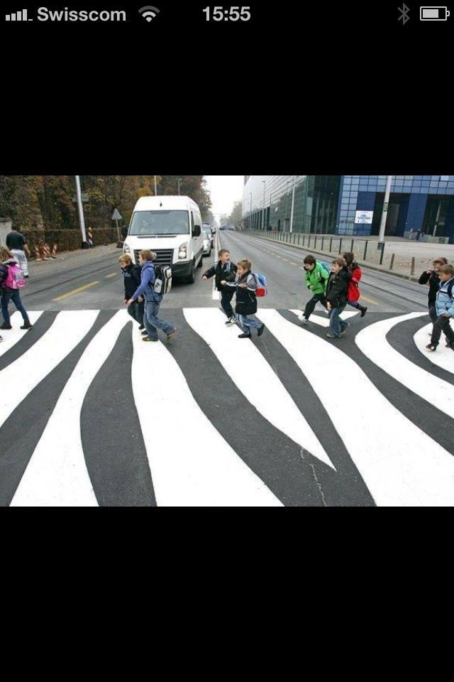 Funny Crosswalk Streetscape Design Zebra Crossing Urban Art