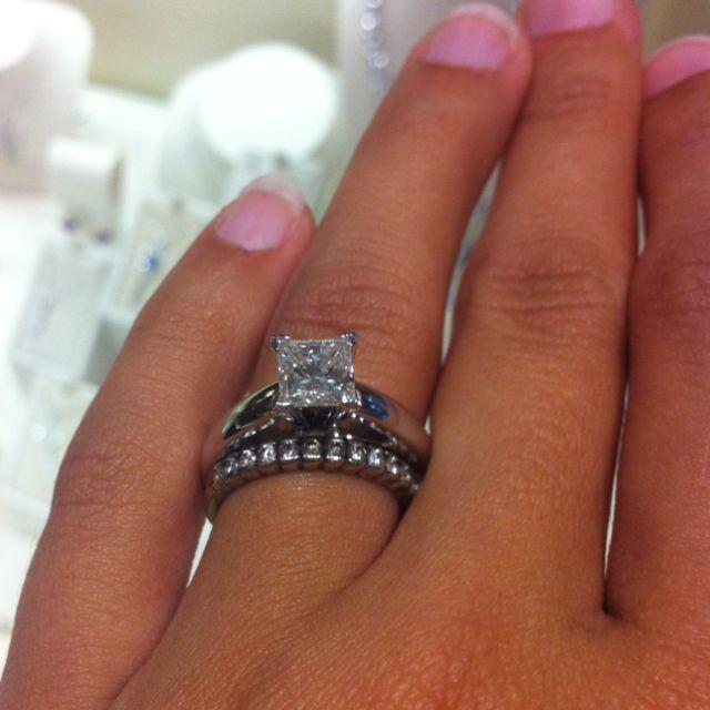 dd6d519865982 1.25 carat princess cut solitaire diamond | A girl can dream ...