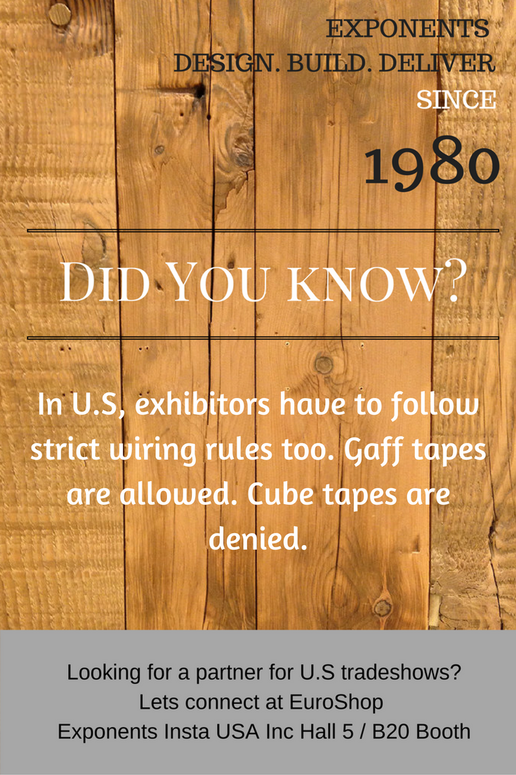 Important Guidelines On Electrical Wiring At Us Tradeshows Eventprofs Euroshop