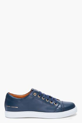 Fashionpending Ssense Sneakers Jacobs Marc Navy For Leather Men nwn6PaqF
