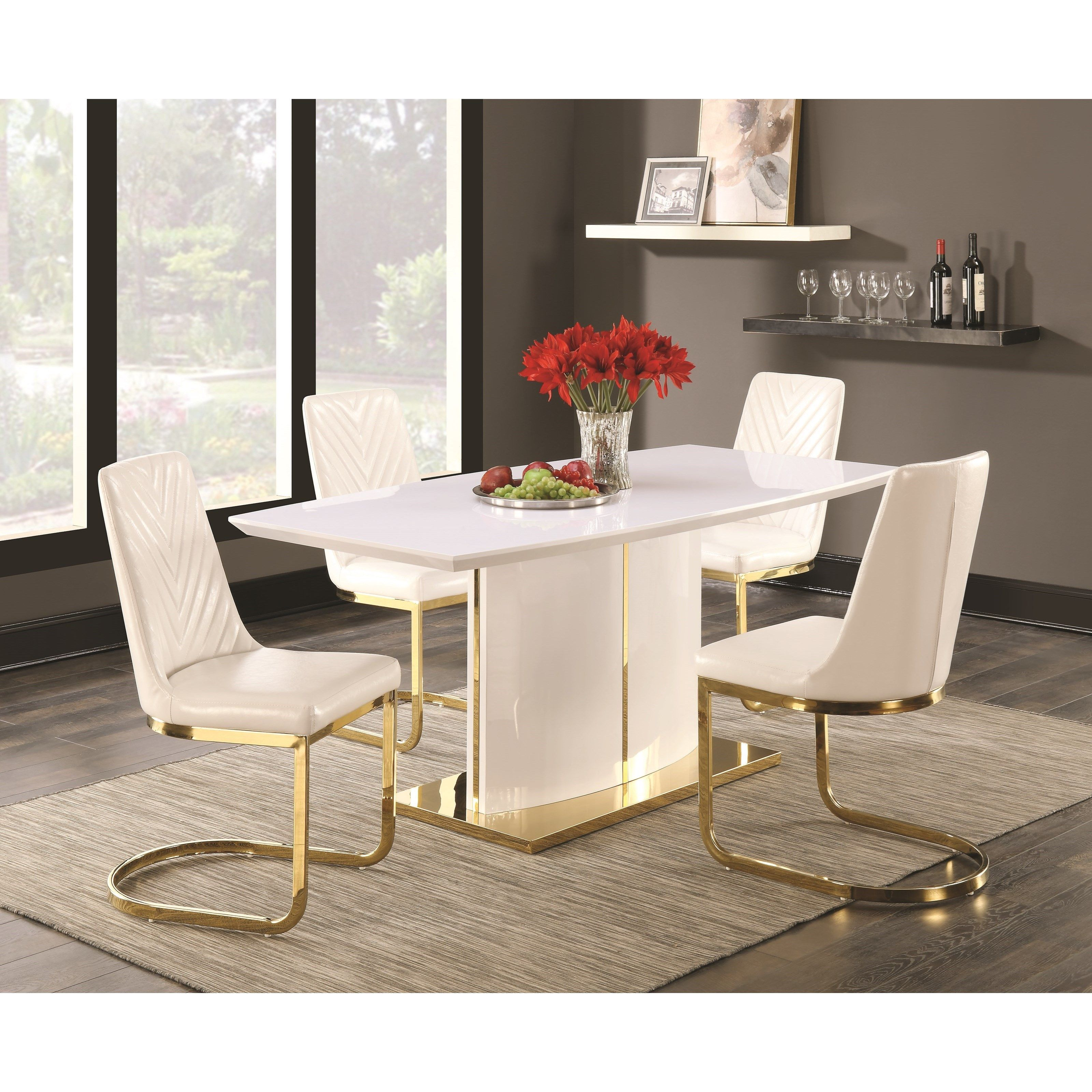 Pin By Stephanie On Home Decor White Dining Table Dining Room