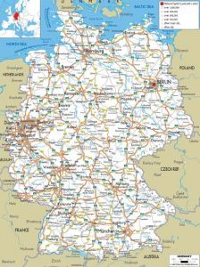 Detailed Road Map Of France on