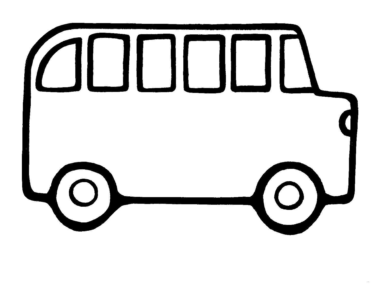 School Bus Outline Template School Bus Coloring Page Bus Coloring Page Bus Coloring Pages