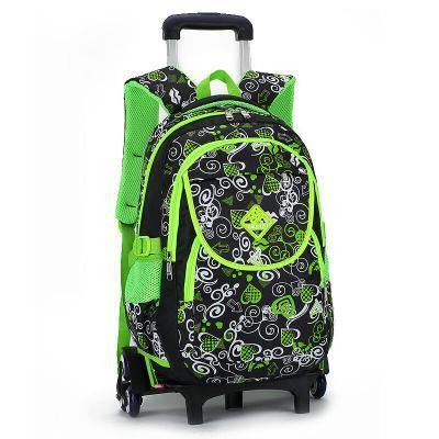 Lovely butterfly Printing Girls Trolley School Bags Backpack Book ...