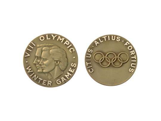 squaw valley 1960 winter games olympic medal winter. Black Bedroom Furniture Sets. Home Design Ideas