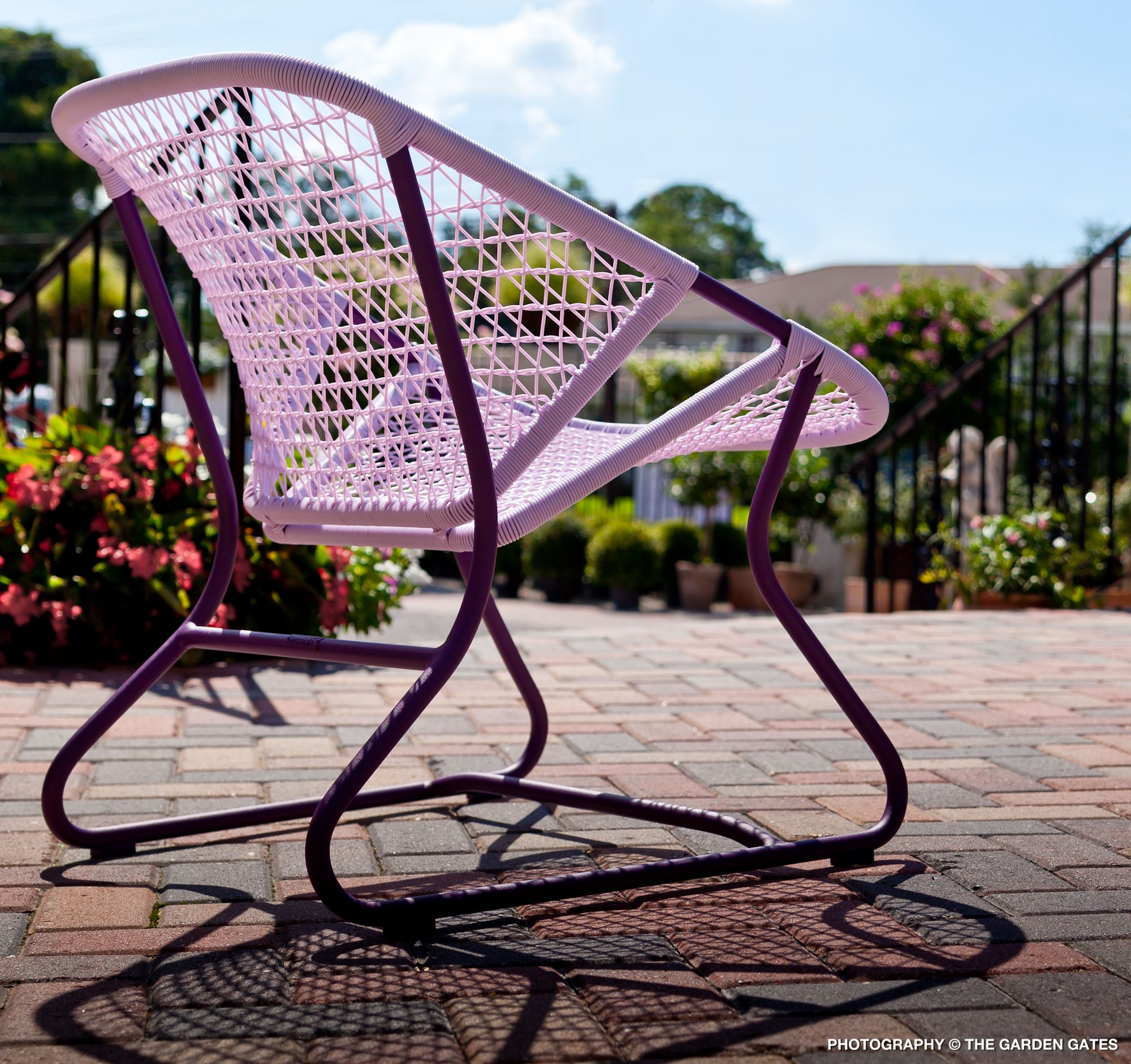 The Fermob Sixties Chair in Aubergine gardengates