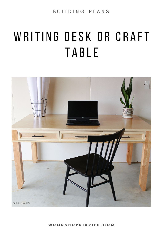 BUILDING PLANS! DIY Craft Table Desk