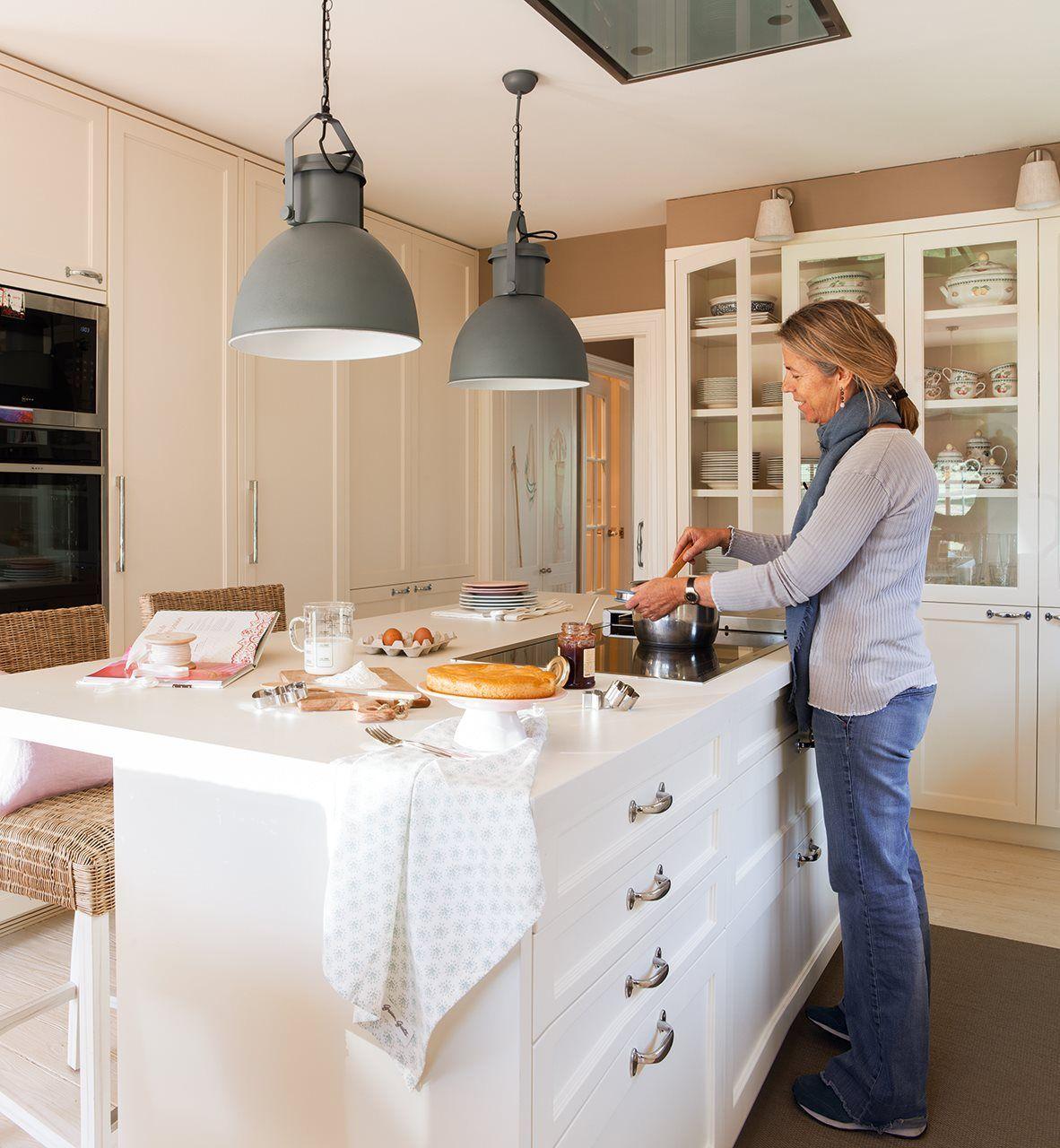 Una casa de inspiración estadounidense   Cocinas   Pinterest ...