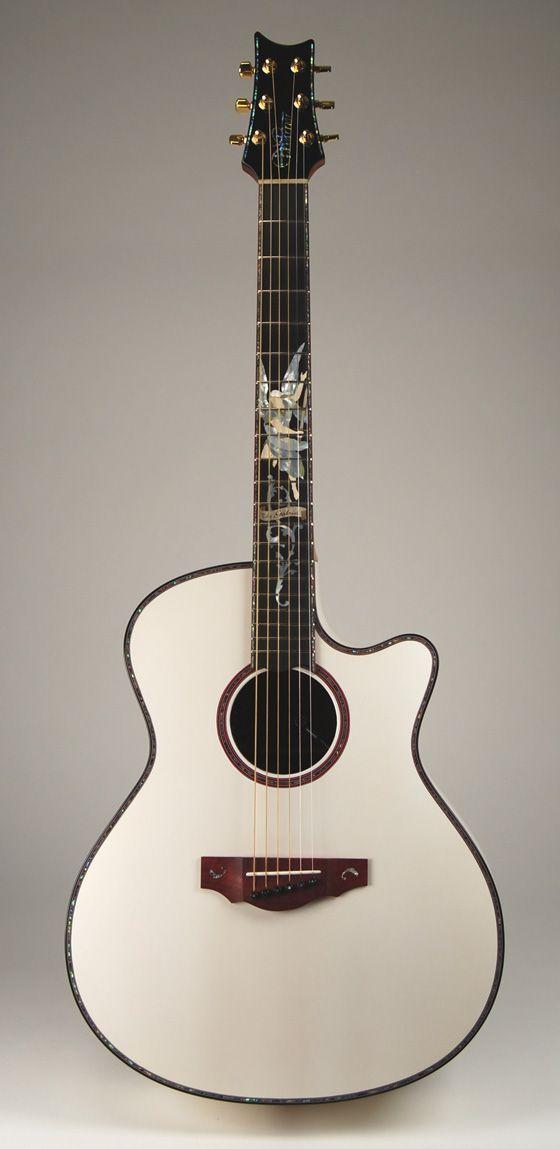 Warrior Custom Shop Acoustic White Gabriel Concert Guitar Guitar Acoustic Guitar Bass Guitar
