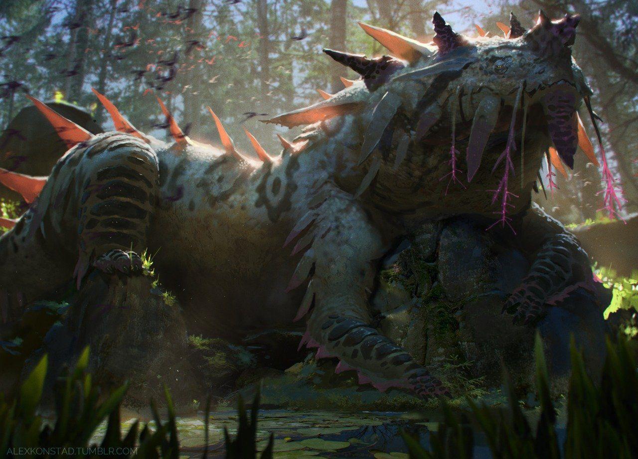 Swamp Dragon, Alex Konstad on ArtStation at https://www.artstation.com/artwork/swamp-dragon-0db41a92-1c8e-40fc-b78d-780a1e27e8ce