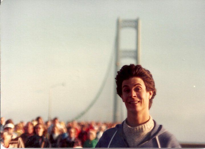 Tom. Mackinac Bridge walk. Labor Day. Early 80s. Don't remember the exact year. I actually have a photo of Governor Milliken close-up with Dan in frame. Why didn't I scan it? Must fetch it from my print archive.