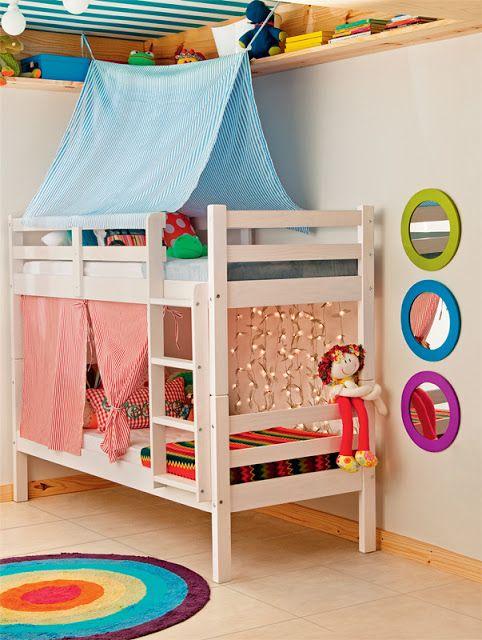 Dormitorio peque o para ni o y ni a dormitorios fotos for Decoracion cuartos pequenos ninos