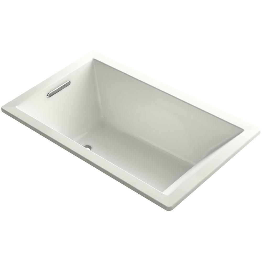 KOHLER Underscore 5 ft. Reversible Drain Soaking Tub in Dune