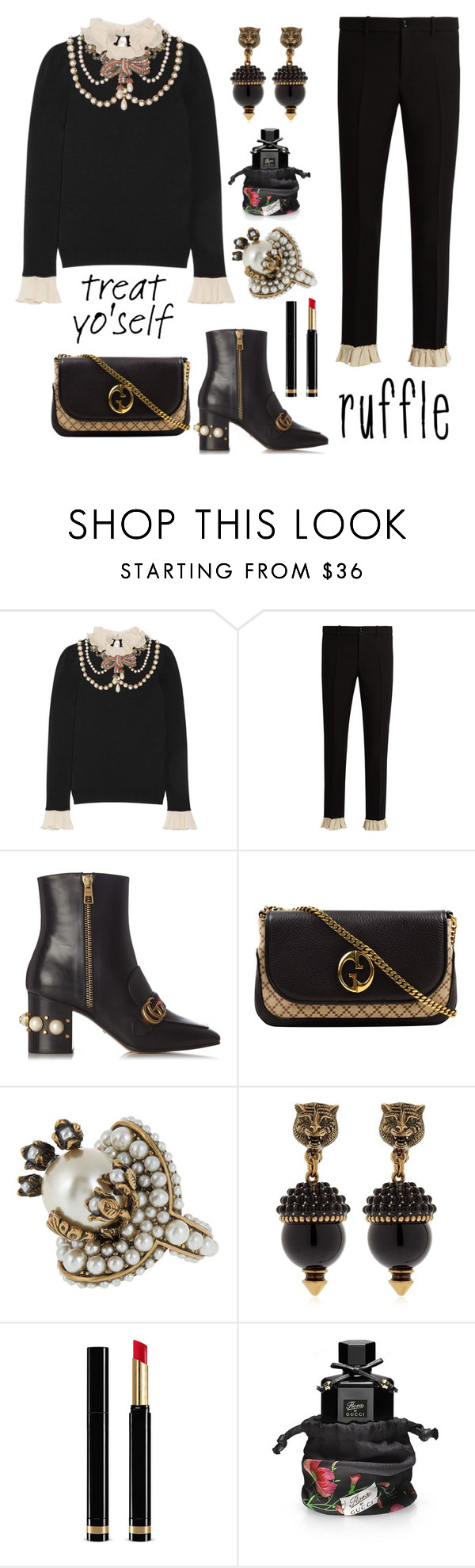 """Treat yo' self"" by nicolevalents ❤ liked on Polyvore featuring Gucci"