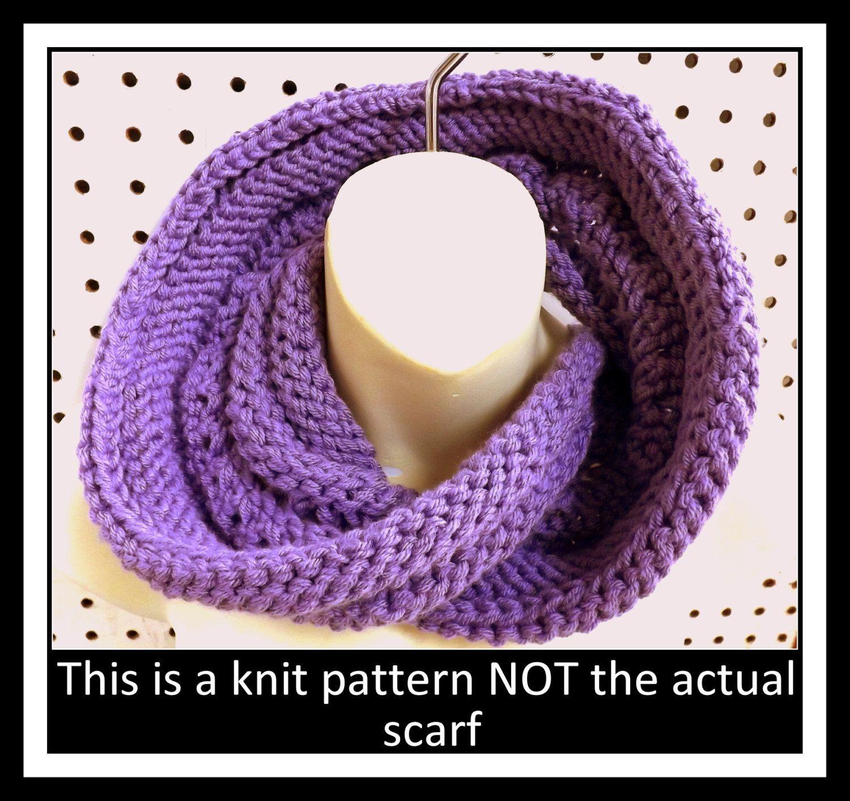 Knit Infinity Scarf Pattern, Knit Pattern, Knit Cowl Pattern, Knit ...