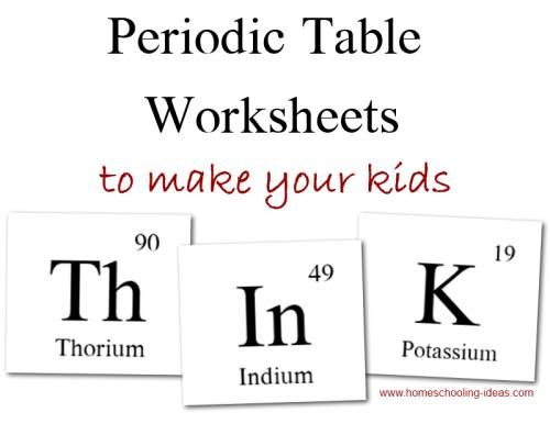 Periodic table worksheets classroom stuff pinterest periodic periodic table worksheets making words from the periodic table several word sheets available homeschooling ideas urtaz Image collections