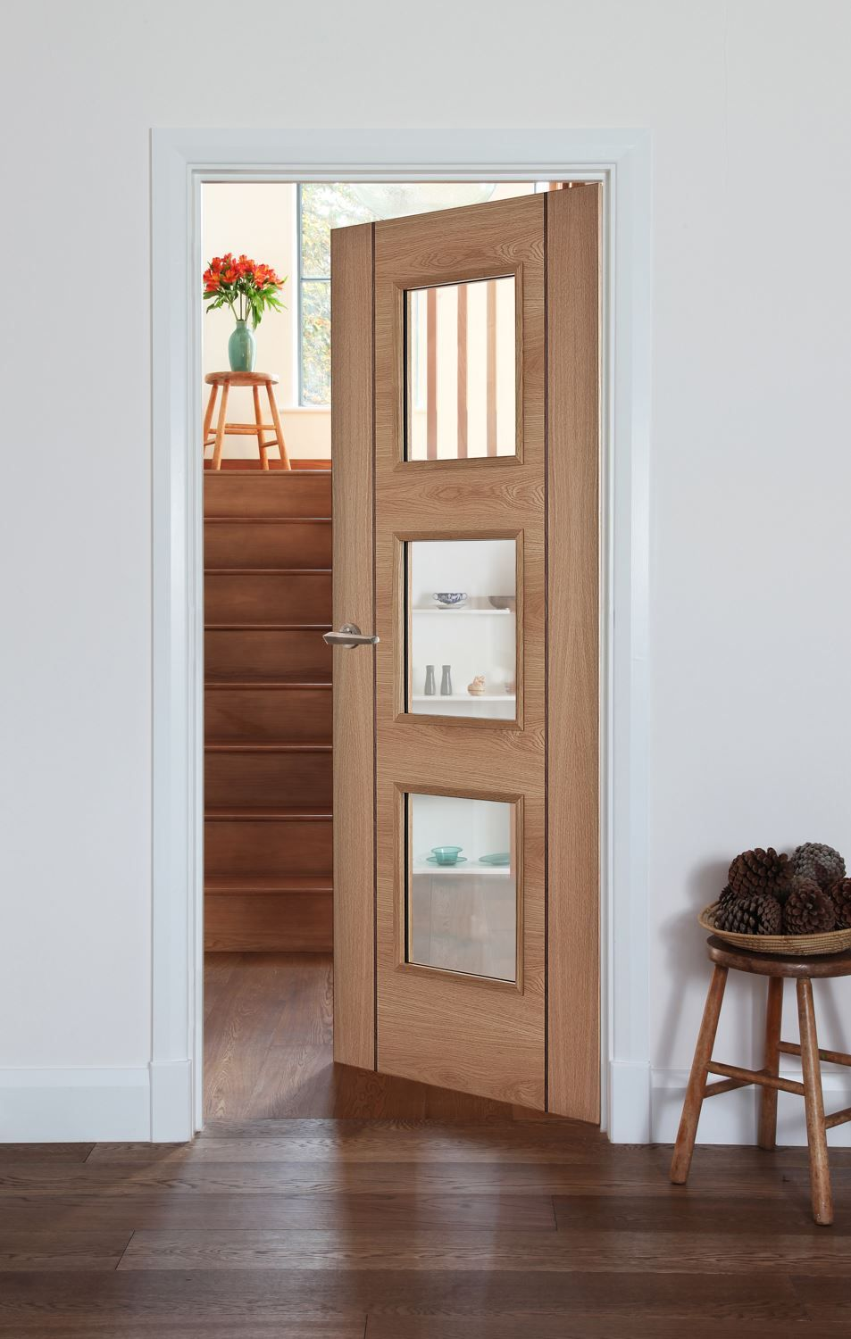 Salamanca Oak 3-Light Bespoke Door