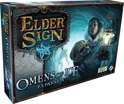 "Elder Sign Expansion: Omens Of Ice  Release March 2016     ""Damn you, 'Fantasy Flight Games'.  This puts an end to my hopes of fitting everything in one box."""