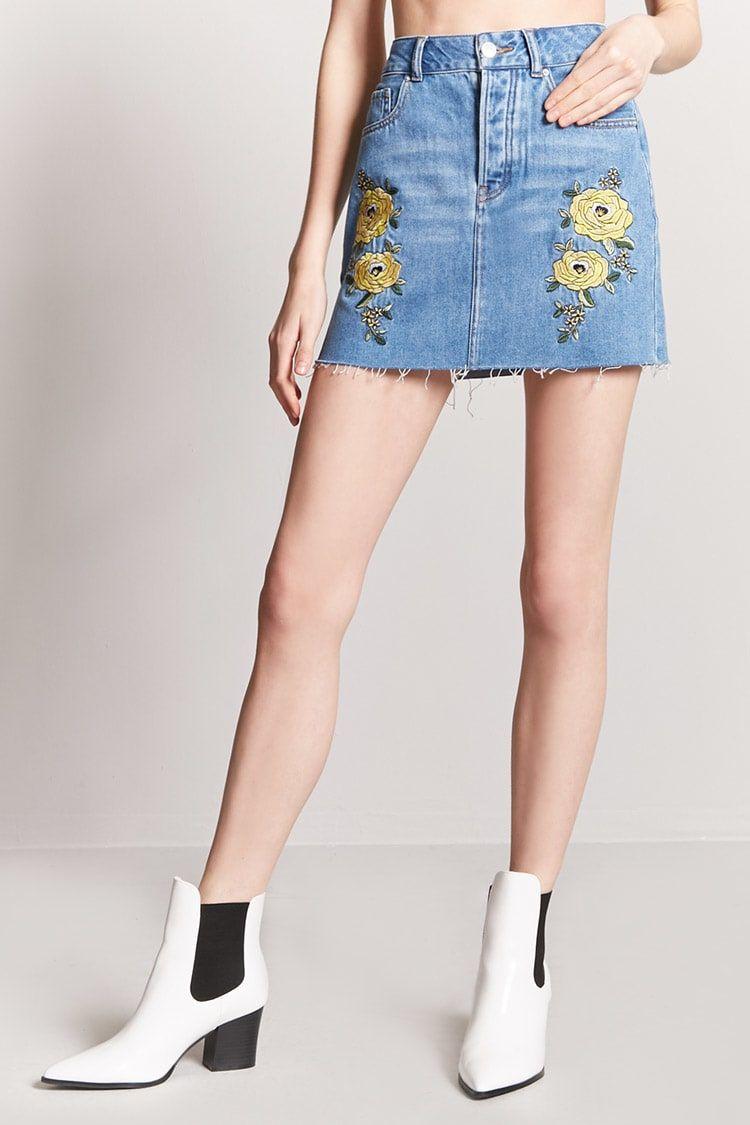 b164dd991 FOREVER 21   Minifalda denim con bordados   #New_In March 2018 ...