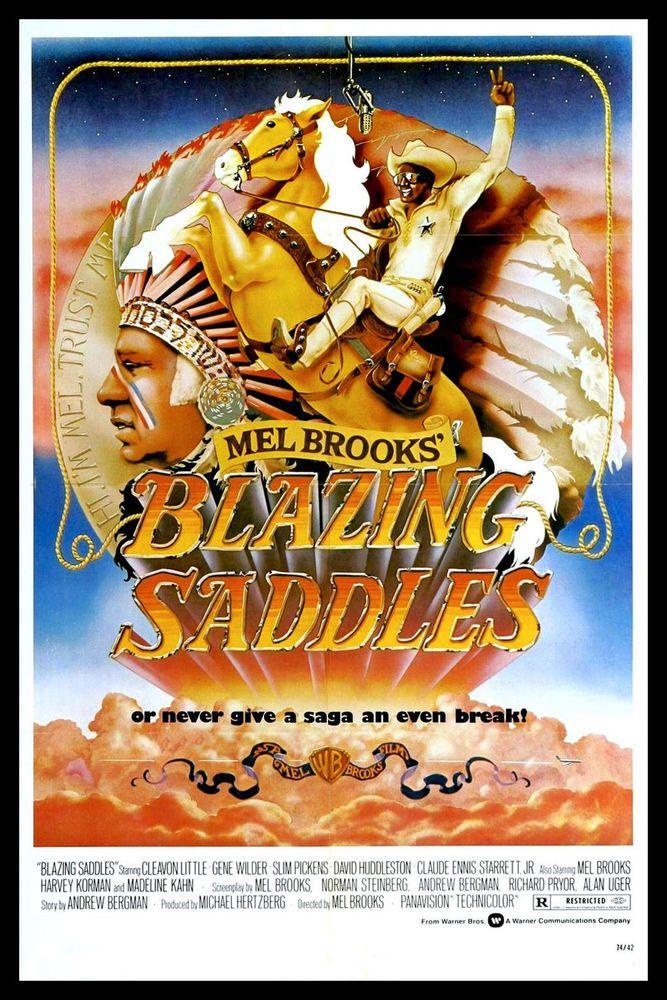 Details About Blazing Saddles Fridge Magnet 6x8 Mel Brooks
