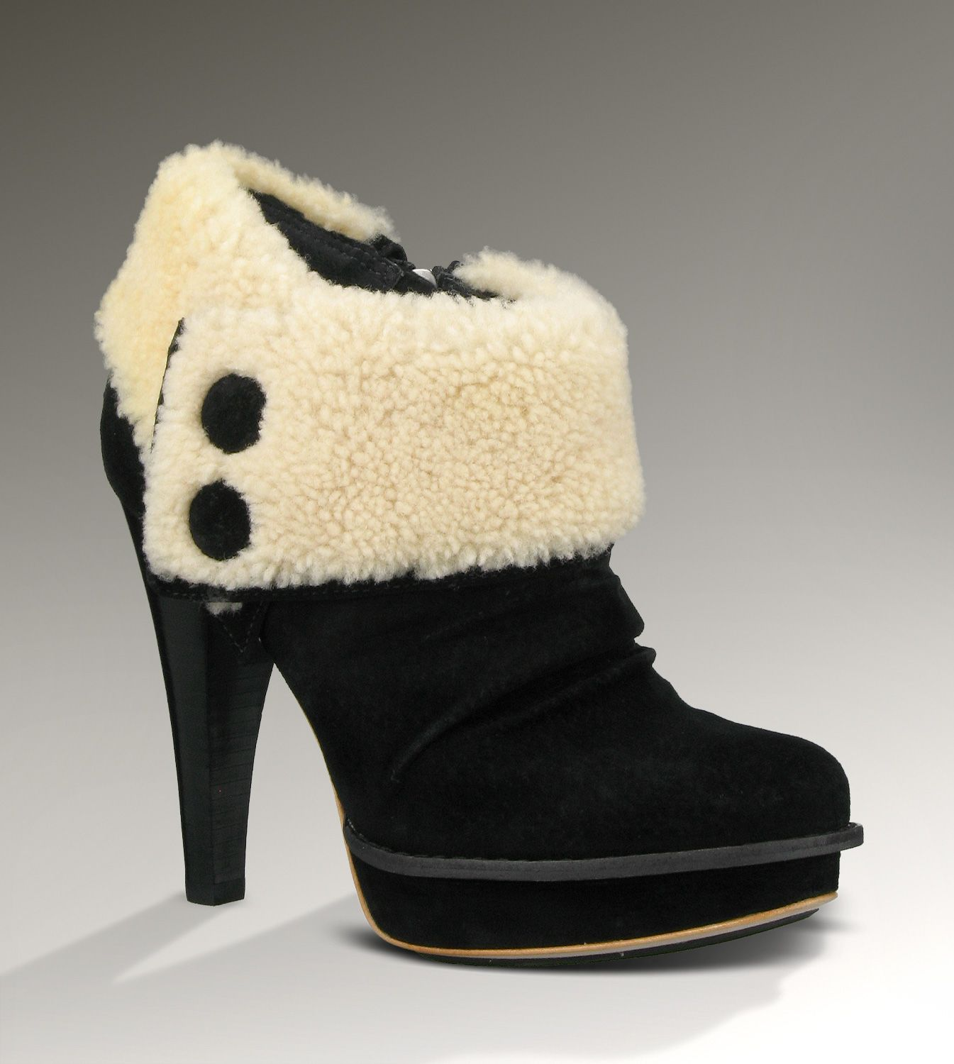 Black · UGG® Georgette Ankle Boot for Women ...
