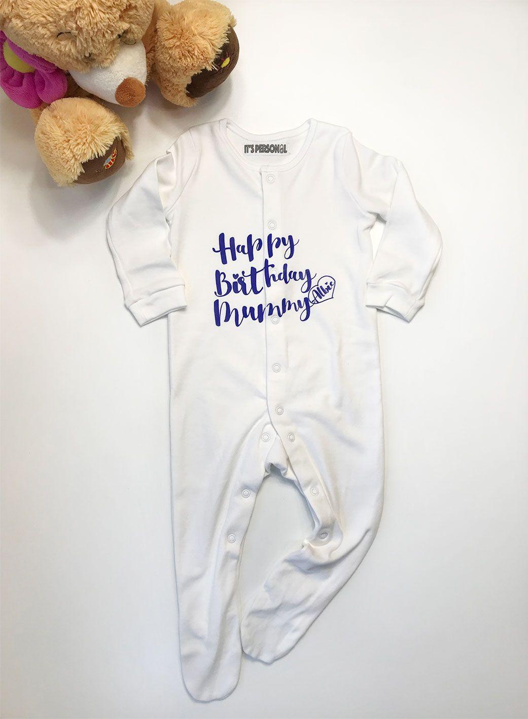 PERSONALISED  BABY VEST BABYGROW CLOTHING GROW SHOWER GIFTS BOY GIRL UNISEX