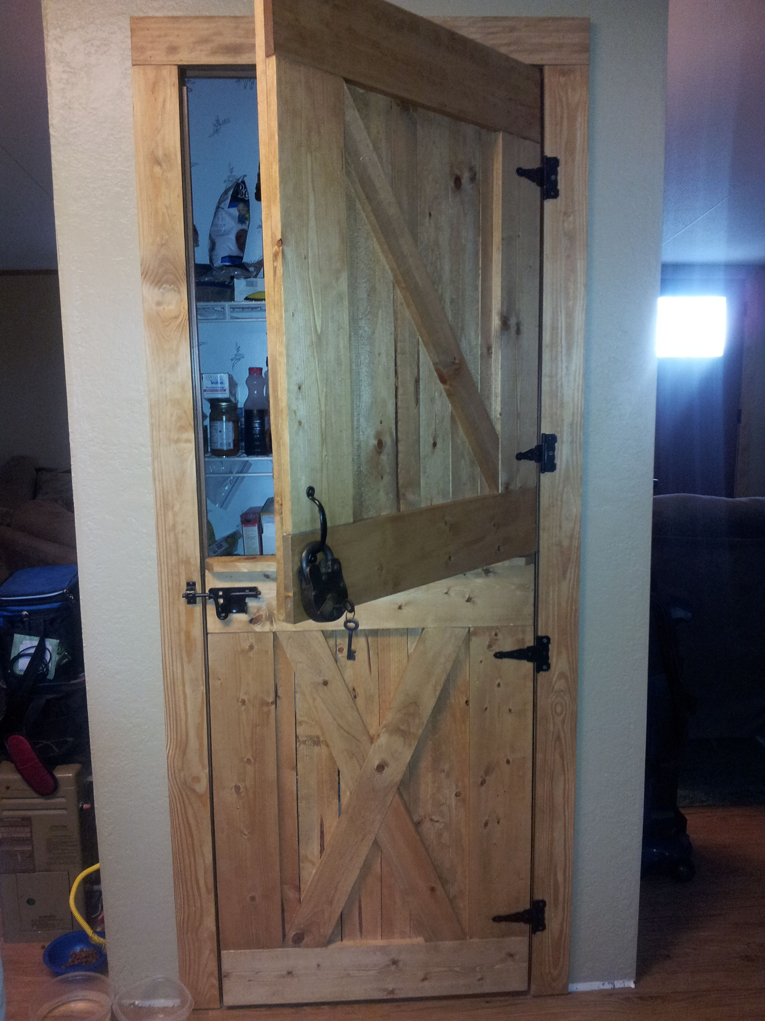 Diy Dutch Barn Door For A Pantry Home Sweet Home Pinterest