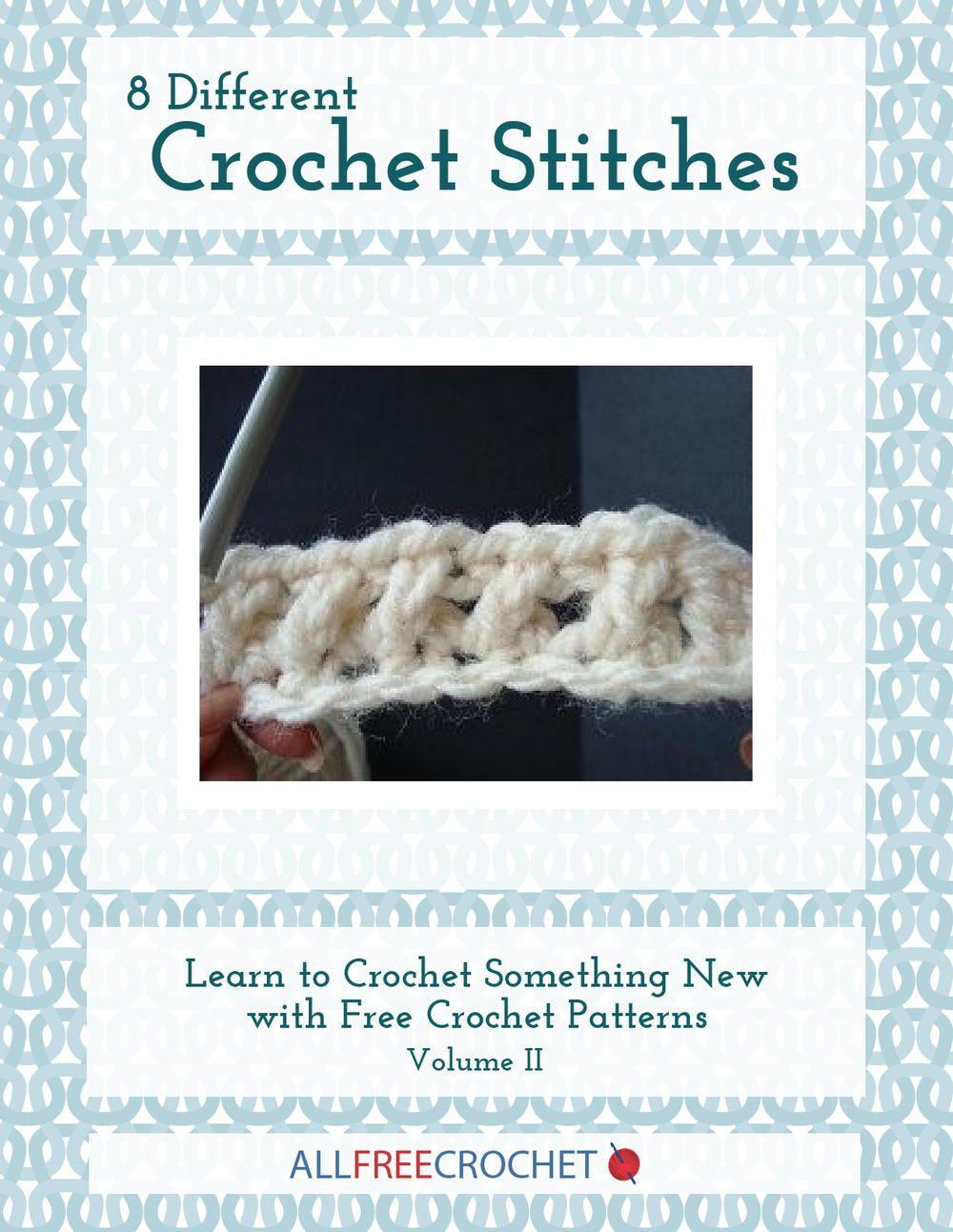 8 Different Crochet Stitches, Volume II | Pinterest | Puntos