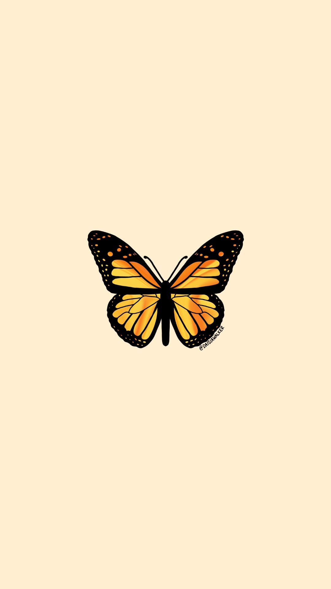 Yellow Orange Butterfly in 2020   Butterfly wallpaper ...