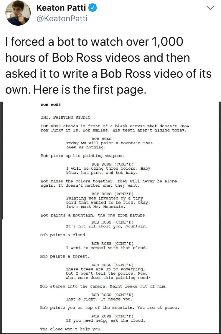 Bob Ross Bot Script Funny Me Funny Tumblr Funny