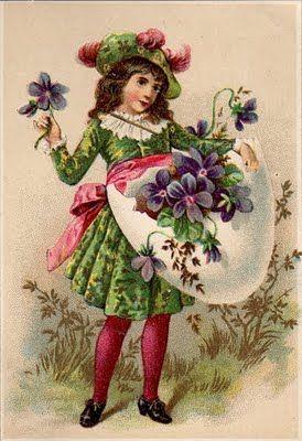Sweet vintage Easter art