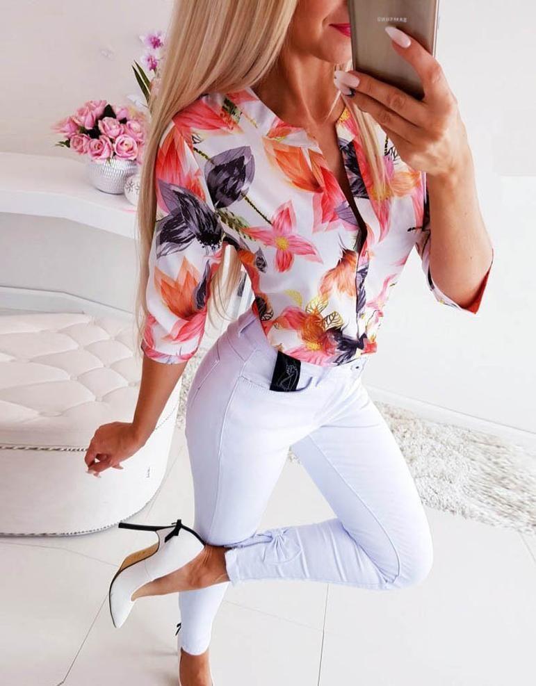 Elegant Leisure Adjustable Sleeve Top in 2020 | Blouses for women ...