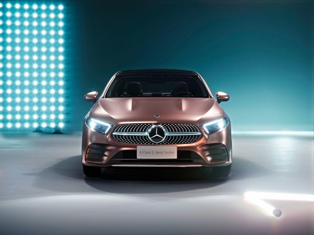 Mercedes-Benz A200 L Sport Sedan, Golden car, front wallpaper