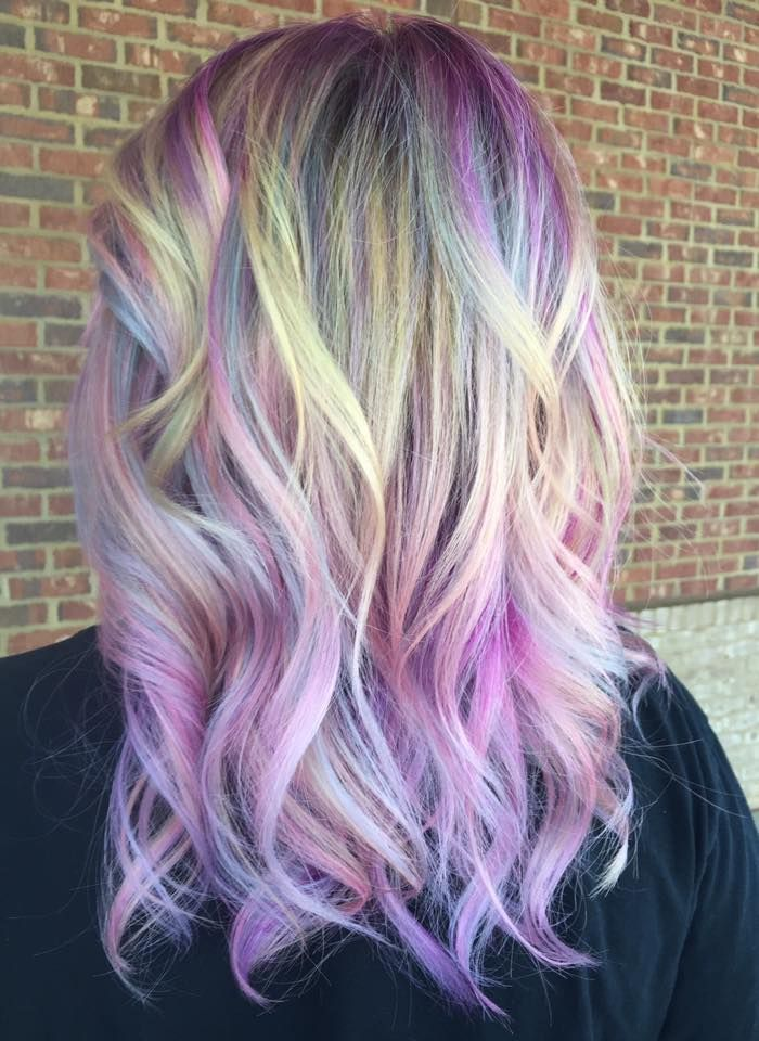 Unicorn Hair Color Purple Pastel Hair Color Soft Pastel Color