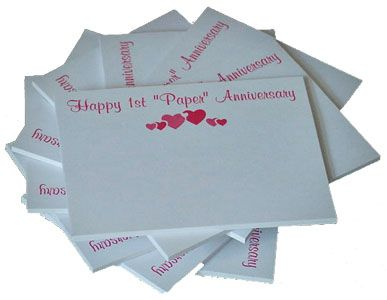 1st first traditional wedding anniversary gift happy paper