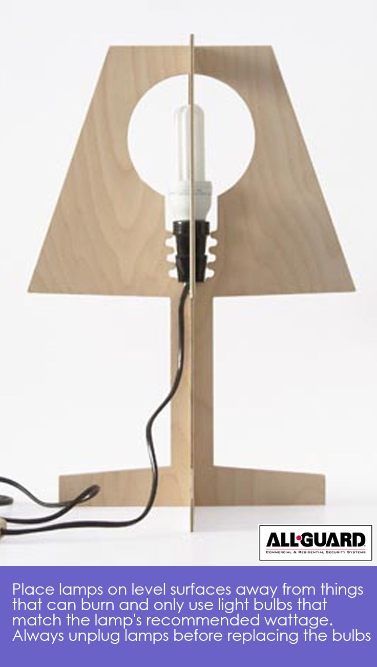 Place Lamps On Level Surfaces Away From Things That Can Burn And Only Use  Light Bulbs