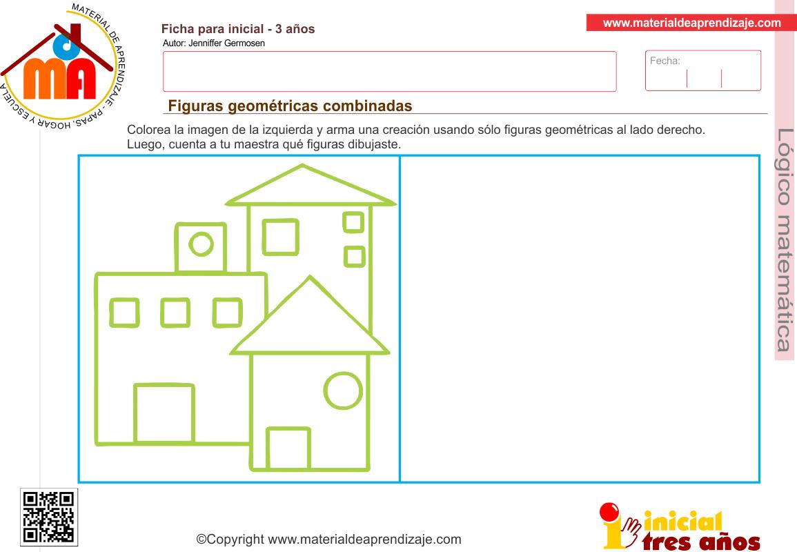 Figuras Geometricas Combinadas Logico Matematica 3 Anos