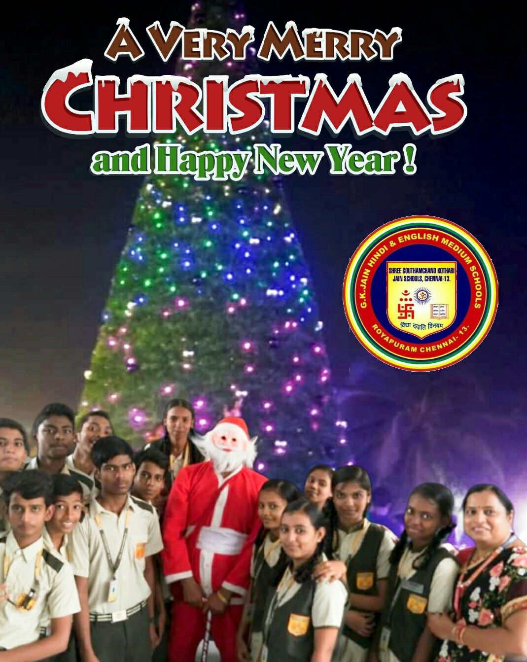 Merry Christmas From G K Jain Schools Merry Christmas And Happy New Year Very Merry Christmas Merry Christmas