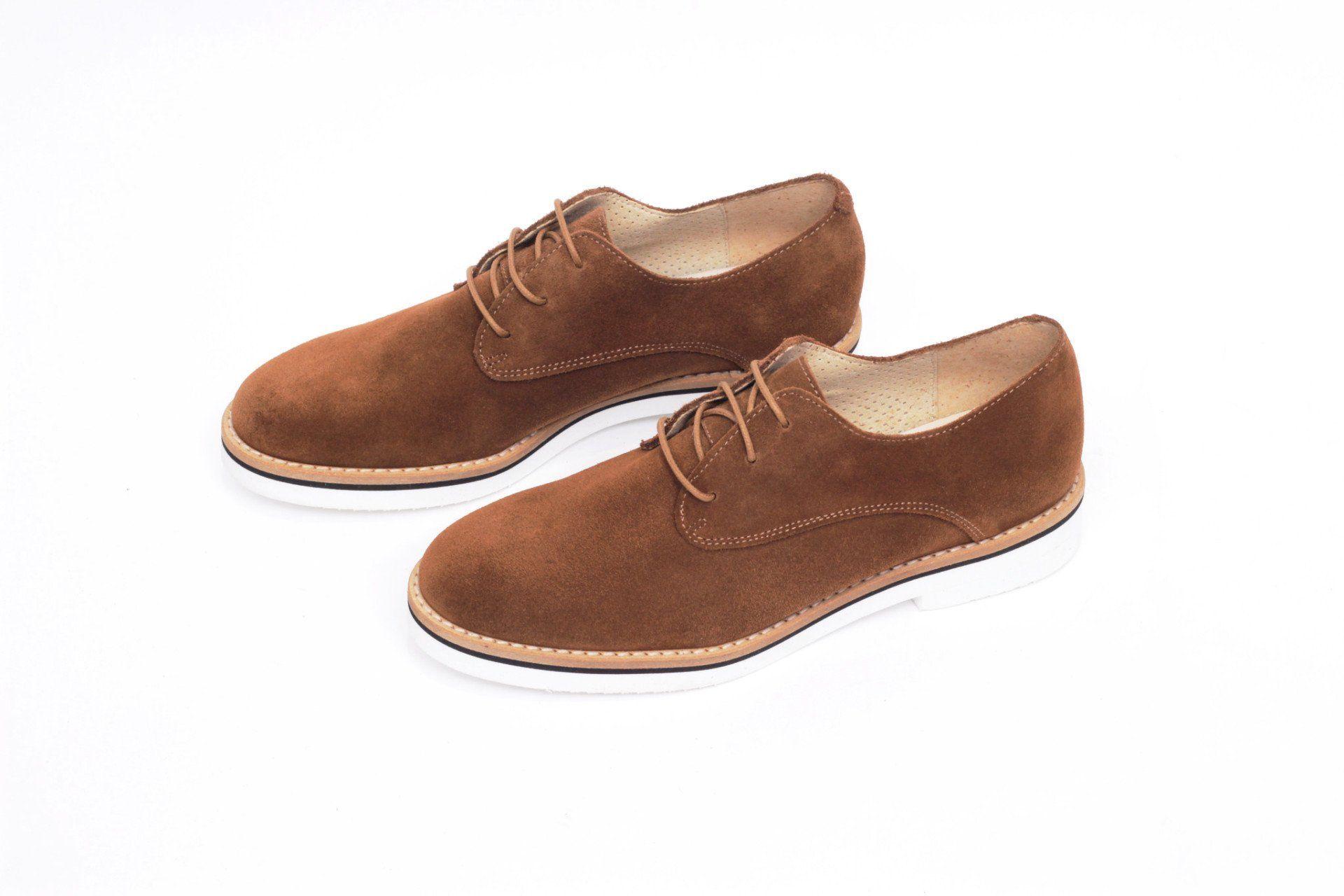 56eaad7b miMaO Blucher Insta Cuero–zapato mujer plano cómodo marrón piel ante -  Comfort women's flat
